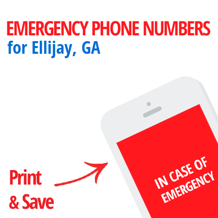 Important emergency numbers in Ellijay, GA