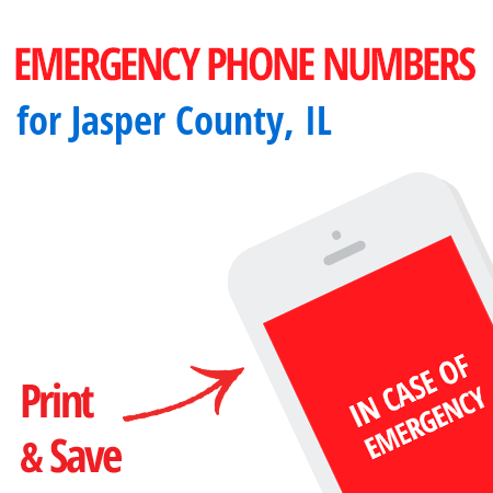Important emergency numbers in Jasper County, IL