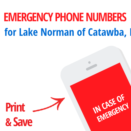 Important emergency numbers in Lake Norman of Catawba, NC