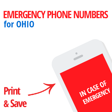 Important emergency numbers in Ohio
