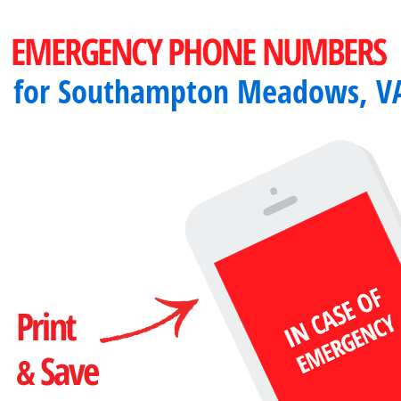Important emergency numbers in Southampton Meadows, VA