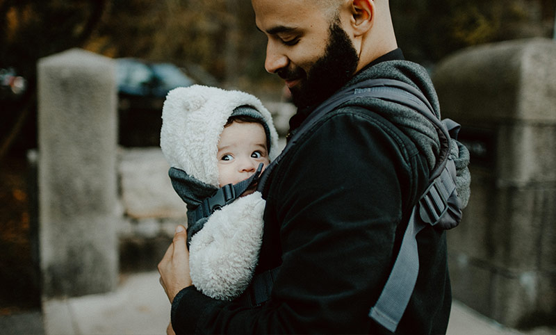 Baby carrier for dad